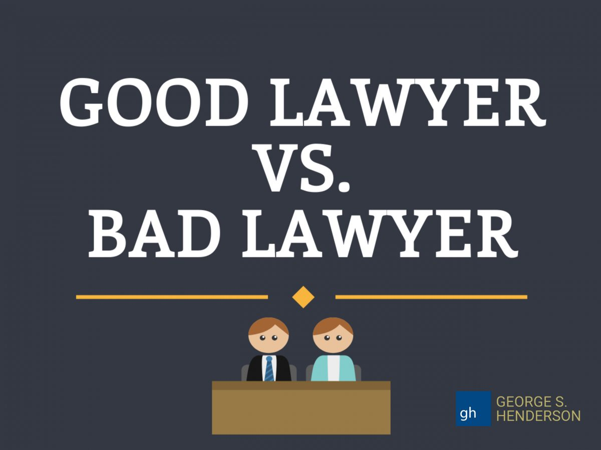 INFOGRAPHIC: Good Lawyer VS. Bad Lawyer